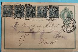 1911           ENTIER  POSTAL  PLUS  TIMBRES   POUR  LA  FRANCE - Brésil
