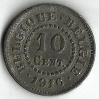 Pièce De Monnaie 10    Centimes 1916 - 1909-1934: Albert I