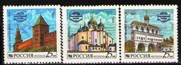 Russia 1993 Kremlin NOVGOROD Building Church Architecture Faceted Hall Palace Geography Places Stamps MNH SC#6150-53 - Churches & Cathedrals