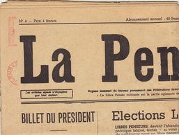 Philisophie Libres Penseurs LA PENSEE Avril 1965 élection Fête De La Jeunesse Expansion Université ... - Journaux - Quotidiens