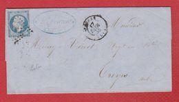 Lettre  / De Hesdin / Pour Troyes  / 17 Février 1855 - Marcophilie (Lettres)