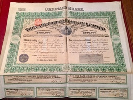 THE  CAPE  COPPER  COMPANY , LIMITED  --------  Action  De 2 £ - Miniere
