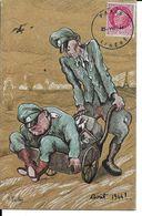 CPA. MILITARIA.Humour.  Illustrateur F. PAILHES.  Officiers Allemands, La Débâcle Juin 1944 !   . .CO 374 - Guerre 1939-45