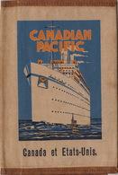 Pochette En Toile Paquebot Canadian Pacific Empress Of Britain - Bateaux
