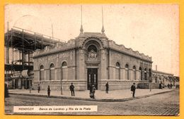 Mendoza - Banco De Londres Y Rio De La Plata - Animée - 1924 - Edit. P. COHN - Fot. A. STREICH - Argentina