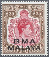 ** Malaiische Staaten - Britische Militärverwaltung: 1945, REVENUE Stamp Of Straits Settlements KGVI $2 - Malaya (British Military Administration)
