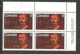 006341 Canada 1973 RCMP 8c Plate Block UR MNH - Plate Number & Inscriptions