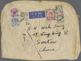 Br Malaiische Staaten - Kedah: 1950, 25 $ Rose-red/brown Sultan Badlishah Revenue Stamp Together With 1 - Kedah