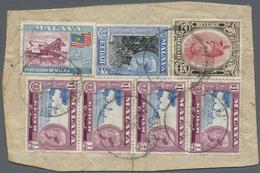 Brfst Malaiische Staaten - Kedah: 1950, 25 $ Rose-red/brown Sultan Badlishah Revenue Stamp Together With 2 - Kedah