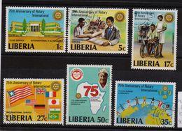 Liberia 1979, Rotary International, Complete Set, Vfu. Cv 4,60 Euro - Liberia
