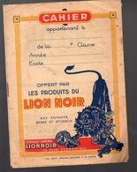 Couverture De Cahier LION NOIR (PPP6718) - Vloeipapier