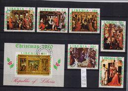 Liberia 1970, Christmas Complete Set + S/s, Vfu - Liberia