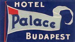 """07325 """"HOTEL HOTEL PALACE - BUDAPEST - UNGHERIA"""" ETICHETTA ORIGINALE - ORIGINAL LABEL - - Adesivi Di Alberghi"""