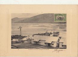 Congo Afrique Planche Lithographie Avec Timbre Taxe Envoi ? Fleuve Et Le Pier à La Gare De Matadi - Congo Belga
