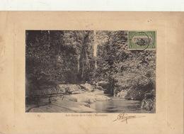 Congo Afrique Planche Lithographie Avec Timbre Taxe Envoi ? Les Chutes De Luki Mayumbe - Congo Belge