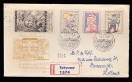 CESKOSLOVENSKO * CZECHOSLOVAKIA * CZECH FDC UNESCO COMPLETE SET REGISTERED 1958 - FDC