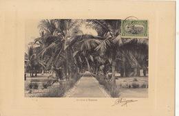 Congo Afrique Planche Lithographie Avec Timbre Taxe Envoi ? Avenue à Banana - Congo Belga