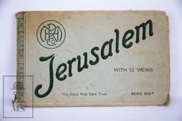 Old Jerusalem Postcard Folder - 9 Different Views - Jerusalem, Jaffa, Hebron - Oak Of Mamvre - Israel