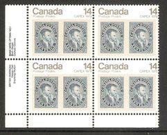 006369 Canada 1978 Capex 14c Plate Block 1 LL MNH - Plate Number & Inscriptions