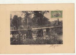 Congo Afrique Planche Lithographie Avec Timbre Taxe Envoi ? Pont Sur La Lukula Mayumbe - Belgisch-Kongo