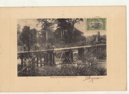 Congo Afrique Planche Lithographie Avec Timbre Taxe Envoi ? Pont Sur La Lukula Mayumbe - Congo Belga