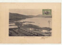 Congo Afrique Planche Lithographie Avec Timbre Taxe Envoi ? Gare De Matadi - Belgisch-Kongo