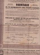 """Actions & Titres   Chemin De Fer De """"Koltchouguino""""1913 - Ferrovie & Tranvie"""