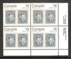 006371 Canada 1978 Capex 14c Plate Block 1 LR MNH - Plate Number & Inscriptions