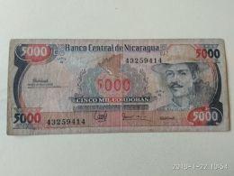 5000 Cordobas  1988 - Nicaragua