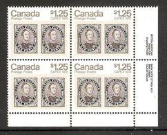 006373 Canada 1978 Capex $1.25c Plate Block 1 LR MNH - Plate Number & Inscriptions