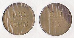 AC - DAILY WAGE TOKEN WHOLE SALE MARKET & PORTER C.H. - 13 / 100 KURUS TOKEN - JETON TURKEY - Tokens & Medals