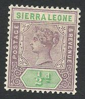 Sierra Leone, 1/2 P. 1897, Sc # 34, Mi # 24, MH. - Sierra Leone (...-1960)