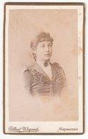CDV Photo Albert Wigand, Nordhausen - Junge Dame Frau Mode Circa 1895 - Photos