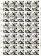 LUXEMBOURG: Feuille De 50 Timbres N° 1299 Du Luxembourg  (Cinquantenaire De La Libération) - Full Sheets