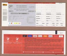 AC -  TURKEY Vs AUSTRIA 2012 EUROPEAN FOOTBALL CHAMPIONSHIP FOOTBALL - SOCCER TICKET 29 MARCH 2011 - Match Tickets