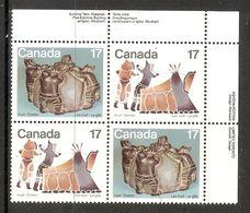 006392 Canada 1979 Inuit 17c Plate Block UR MNH - Plate Number & Inscriptions