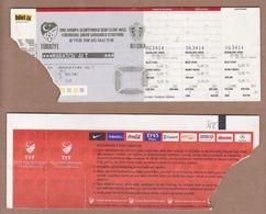 AC -  TURKEY Vs BELGIUM 2012 EUROPEAN FOOTBALL CHAMPIONSHIP FOOTBALL - SOCCER TICKET 07 SEPTEMBER 2010 - Match Tickets