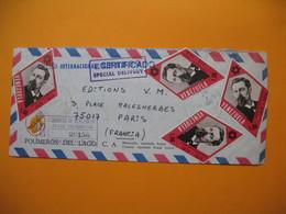 "Lettre Venezuela Avec Tapon En Recomandé Et  "" Expresso Internacional Certificado "" 25/9/74 - Venezuela"