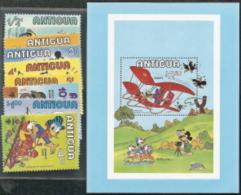 Antigua, Scott 2018 # 562-571 , Issued 1980,  Set Of 9 + S/S Of 1,  MNH, Cat $ 14.50,  Disney - Antigua And Barbuda (1981-...)