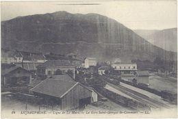 Cpa 38 – Ligne De La Mure – La Gare De Saint Georges  De Commiers - France