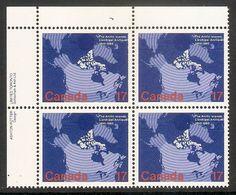 006396 Canada 1980 Arctic Islands 17c Plate Block UL MNH - Plate Number & Inscriptions