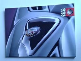 Dep014 Depliant Advertising Alfa Romeo 166 Dettagli Tecnici Dimensioni Colori Motore Engine Design Auto Car Voiture - Automobili