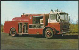 Merryweather Foam Tanker At Billingham Station - Cleveland County Fire Brigade Postcard - Trucks, Vans &  Lorries