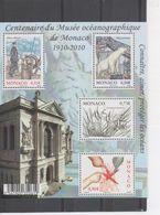 MONACO : Musée Océanographique De Monaco : Centenaire - Prince Albert 1er Et Bateau D'exploration, Ours Polaire, Poisson - Monaco