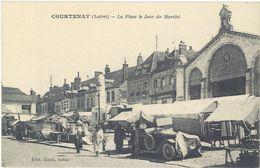 Cpa 45 – Courtenay – La Place Le Jour De Marché - Courtenay