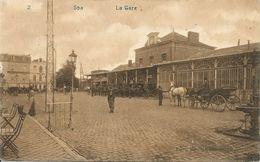 SPA - La Gare - A Circulé, Timbre Enlevé - Edit. Emile Dumont - Spa