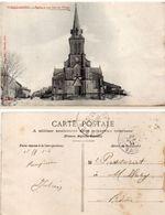 SAINT LAMBERT - L' Eglise Et Une Rue Du Village   - Cachet Militaire Trésor Et Postes 142  (101916) - Guerra 1914-18
