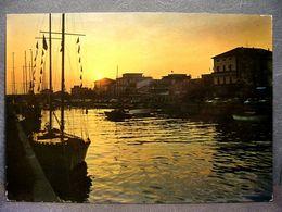 (FG.J46) BELLARIA DI RIMINI - PORTO CANALE, IL COMMIATO DEL SOLE, TRAMONTO (VIAGGIATA 1968) - Rimini
