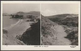 Lundy Bay & Valley, Polzeath, Cornwall, 1955 - Overland Views RP Postcard - England