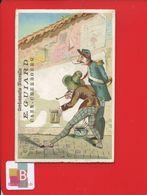 CAEN CHERBOURG GUIARD Cordonnerie Chromo Illustrateur Peintre Rue Ombre Peinture Mur Garde Champêtre Pot Chambre Affiche - Trade Cards